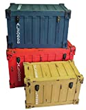 ウッドボックス アンティーク風トランク型収納ケース コンテナ柄 S/M/L 3個セット 3WB173