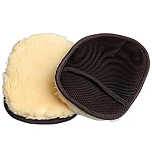 LT STORE 洗車グローブ 羊毛/吸水力強い/泡立ち易い/傷防止 ムートンウオッシュ 男女兼用 二枚
