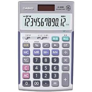 カシオ 本格実務電卓 検算・税計算 ジャストタイプ 12桁 JS-20WK-N
