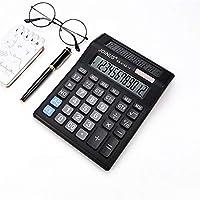 Ququack KK8122-12ハンドヘルドディスプレイ関数電卓ポケット型デュアル電源大型ディスプレイオフィスデスクトップ電卓