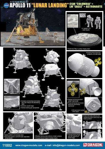 1/72 アポロ11号月面上陸 司令船コロンビア+月着陸船イーグル w/宇宙飛行士