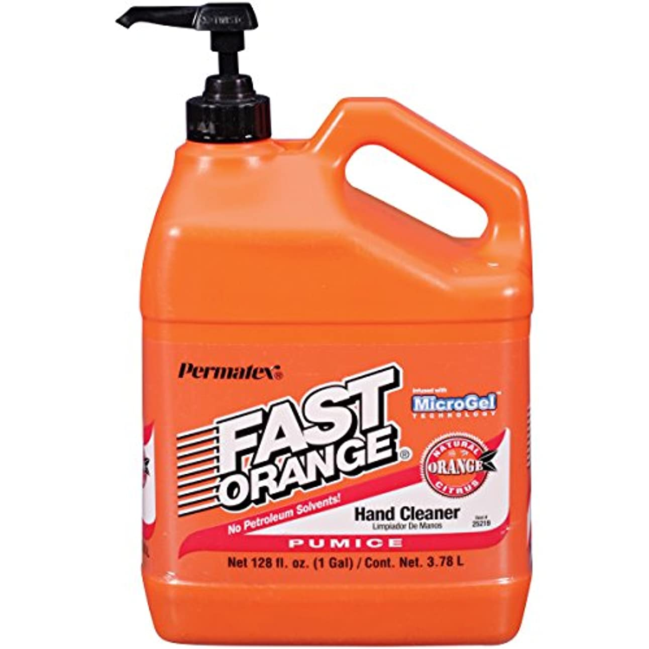 警報認識プレミアムFAST ORANGE HAND CLEANERPUMICE 1 GALLON BOTTLE