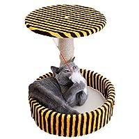 キャットタワー 猫 木 ハンモック ベッド スクラッチ ポスト 付 からかい ネコ用品 猫 爪とぎ 板 模様 L ベッド 柔らかい 爪磨き みがき 耐久性 安全 家具傷防止 猫タワー 据え置き 小型 麻巻き トンネル ネズミ おもちゃつき