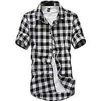 [meryueru(メリュエル)] カジュアル 半袖 クラシック チェックシャツ オシャレ ネルシャツ ファッション メンズ