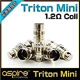 Aspire Triton Mini用コイル 5個セット Nautilus/Nautilus mini 電子タバコ VAPE MOD (1.2Ωkanthal coil)