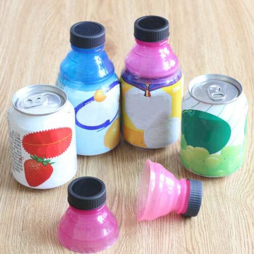 EmmetStore(TM) 6pcs Caps Snap Bottle Top Can Cover Fizz Coke Drink Soda Lid Cap Reusable