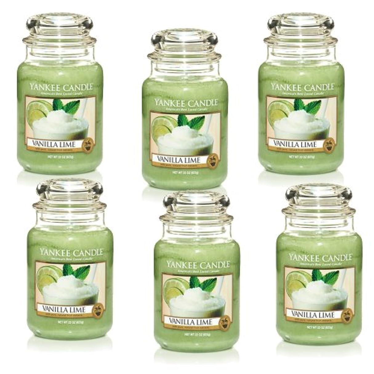 収入子供時代カブYankee CandleバニラライムLarge Jar 22oz Candle Set of 6 1106730X6