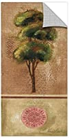 Silvia Vassileva ''Tree Rosette II'' Removable Wall Art Mural, 18X36 [並行輸入品]