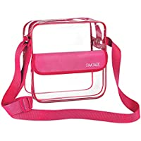 BAGAIL Clear Purse NFL &PGA Approved Cross-Body Shoulder Messenger Bag with Adjustable Strap