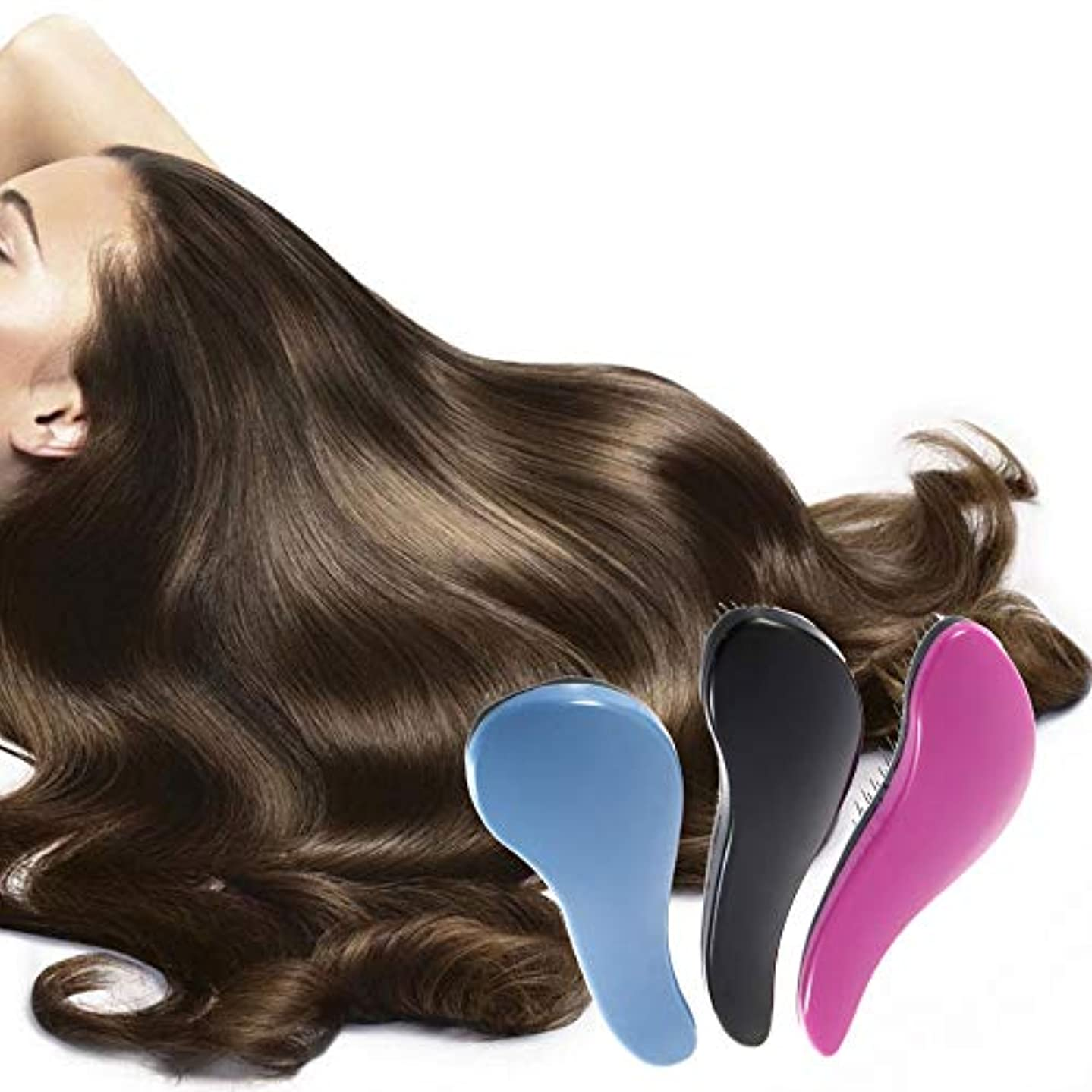 サバント入手します図1本のプラスチックパドルヘアブラシ - 女性の男性と子供のための環境に優しい剛毛のもつれを解消するヘアブラシ - フリッツとマッサージスカルプを減らす (4)
