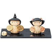 雛人形 コンパクト 人形師の手造り雛人形 弥生窯作 梅松紋立雛