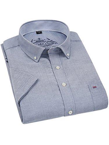 (ワイ-ミー)Y-ME半袖ワイシャツカジュアルビジネス紳士半袖シャツ選択する5色形態安定豊富な7サイズgray40