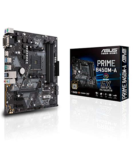 ASUS AMD B450 搭載 AM4 対応 マザーボード PRIME B450M-A 【MicroATX】【 第3世代 AMD Ryzen CPU に対応】