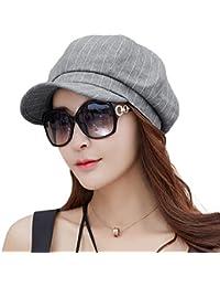 (シッギ) Siggi 春用帽子 サイズ調節可 小顔効果 折りたため UVカット かわいいキャスケット レディース 56cm-59cm