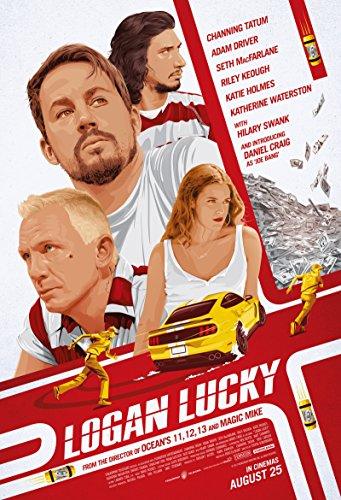 ローガン・ラッキー / Logan Lucky シルク調生地 ファブリック アート キャンバス ポスター 約 60cm × 90cm 007のダニエル・クレイグ オーシャンズ11のソダーバーグ監督