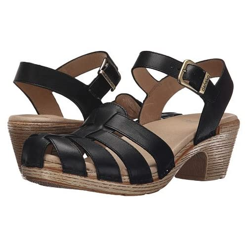 (ダンスコ)Dansko レディースサンダル・靴 Milly Black Full Grain US Women's 6.5-7 23.5-24cm Regular [並行輸入品]