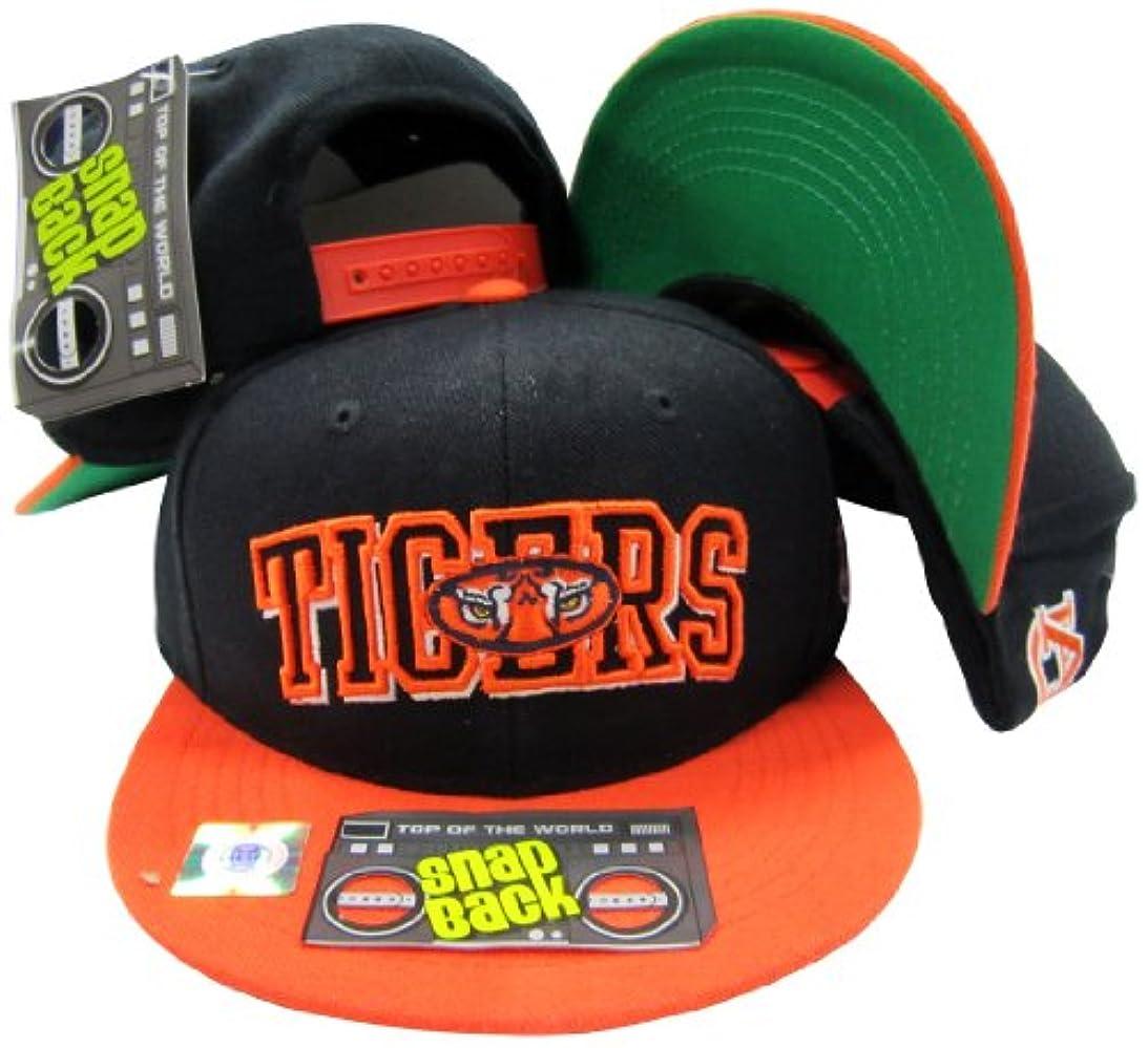 に慣れフェザー時間とともにオーバーンTigersブラック/オレンジスナップバック帽子