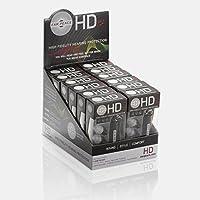 12個セット 耳栓ライブ用 EarPeace HD /イアーピースHD ライブ用 交換フィルター付 (12個セット, 黒ケース/クリアプラグ)