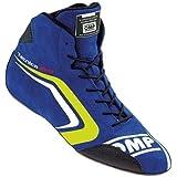 OMP TECNICA EVO SHOES MY2018(テクニカ エボ)BLUE/YELLOW 41サイズ (ブルー/イエロー)レーシングシューズ FIA8856-2000公認