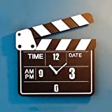 RCOLOCK 掛時計 クロック 掛け時計 コンパクトサイズ インテリアクロック スタンダード フラットフェイス 防滴 防塵 壁掛け時計アナログ表示 マナーモード連続秒針タイプ アクアガード サークルポート カチンコ