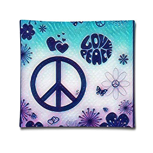 Love Peace Square Pillow Cover...