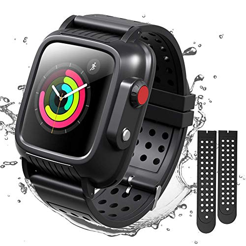 Merit Apple Watch 42mmケース バンド 一体 完全防水 落下衝撃 吸収 防塵 Apple Watch Series 3