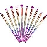 アイシャドウブラシセット メイクブラシ 12本セット 化粧筆 フェイスブラシ 化粧ブラシ 携帯便利 高級繊維毛 化 専用ポーチ