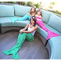 [ハートトゥハート]Heart to Heart Mermaid Tail Blanket for Teen and Kids, Made with Fine Crochet Material, Soft and [並行輸入品]