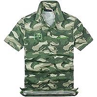HYDROGEN ポロシャツ メンズ ゴルフ コットン 綿 100% 半袖 夏 プリント18727399 [並行輸入品]