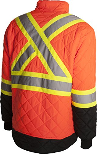 Terra 116505ORM High-Visibility Quilted And Lined Reflective Safety Freezer Jacket, Medium, Orange