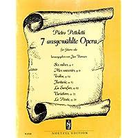 [冊子][楽譜]Pietro Pettoletti - 7 ausgewahlte Opera[1990年発行]
