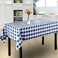 GRJH® テーブルクロス、モダンスクエアグリッド新鮮な北欧の農村のコーヒーテーブルダイニングテーブル布の長方形/円形 防水 ( 色 : #3 , サイズ さいず : 120x160cm )