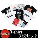 (サーフブランド ) SURF Tシャツ 半袖 3枚セット サーフ系Tシャツ M アソート