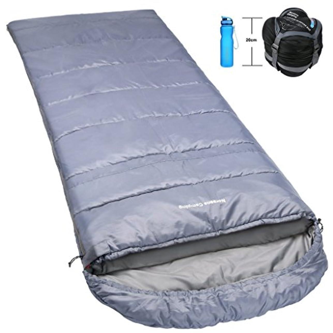 Norsens 封筒型 寝袋 シュラフ 室内用 車用 冬 キャンプ 登山 アウトドア スリーピングバッグ コンパクト 軽量 丸洗い 大サイズ 防水 最低使用温度10度 収納袋