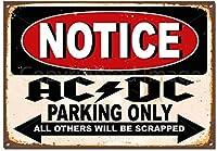 AC DC駐車場のみティンサイン