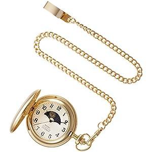 [モントレスコレクション]Montres Collection 懐中時計 サン アンド ムーン ポケットウォッチ ゴールド アラビア数字 MC-900G/A