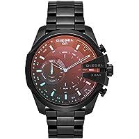 Diesel Men's DZT1011 Diesel Mega Chief Hybrid Smartwatch, Black, X-Large