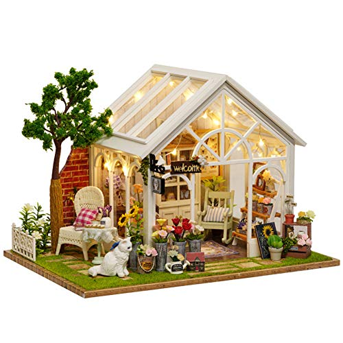 Bobbbiio 木製 DIY ドールハウス ハンドメイド ...