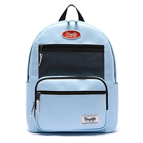 0acc04910a72 デーライフ] Daylife Leather Layer Plus Backpack?レザー・レイヤープラスバックパック メッシュ リュック  バックパック 5色 [並行輸入品] (セレニティー)