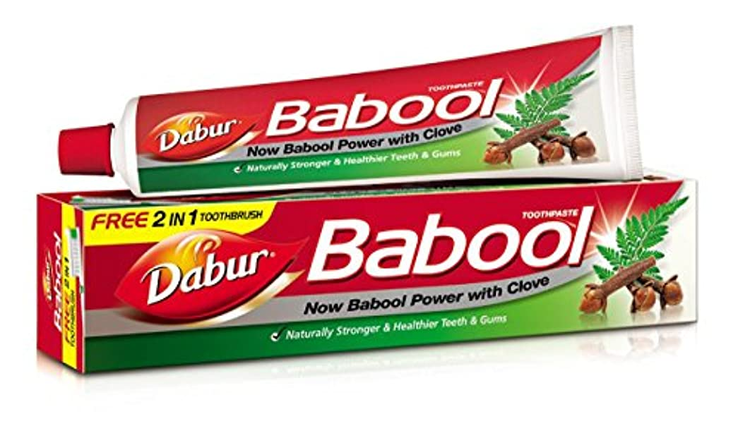 偶然の並外れた失望Dabur Babool Toothpaste 80 Grams - India