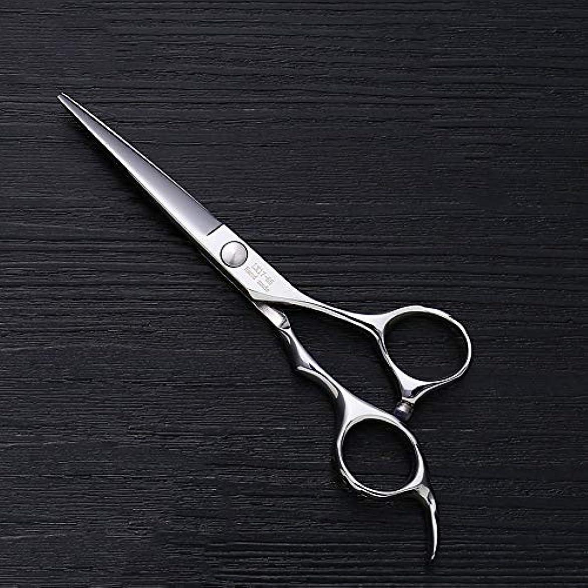 スキニーさまよう強制理髪用はさみ 5.5インチの理髪師の専門のヘアカットの平らなせん断の良質の専門の理髪用具の毛の切断はさみのステンレス製の理髪師のはさみ (色 : Silver)