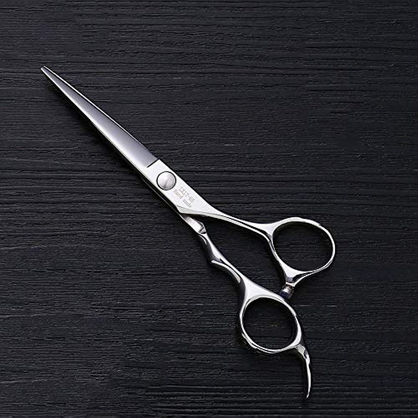 名前成人期二層5.5インチ理髪師プロのヘアカットフラットせん断高品質理髪ツール ヘアケア (色 : Silver)