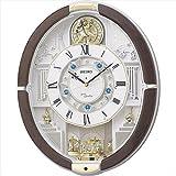 セイコー からくり電波掛時計 【壁掛け かべかけ おしゃれ せいこー アナログ 掛け時計 F7102-02】