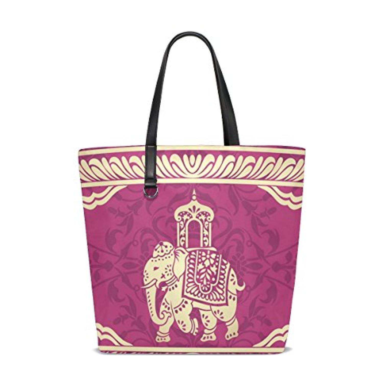 Hippie Indian Elephant Mandala Womens 'reversibleショッピングトートバッグ旅行バッグハンドバッグ
