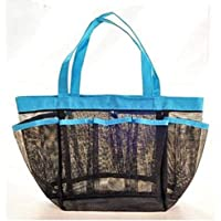 Large Mesh Beach Tote Bag Toy Storage Zippered Market Grocery Picnic Bag with 8 Pockets