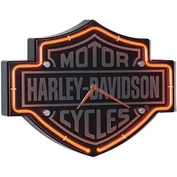 エッチングバー&シールド型ネオンクロック Harley-Davidson社【並行輸入】