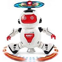 inverlee電子ウォーキングダンススマートスペースロボット宇宙飛行士子供音楽ライトおもちゃ、クリスマスギフトfor Children One size