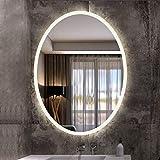 楕円形の壁ミラーは、居間または浴室のための防爆および防水機能HDガラス銀鏡を持っています (Size : 75cmX100cm)