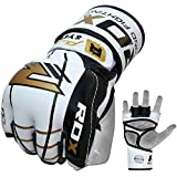 RDX MMA Gloves Sparring UFC Cowhide Leather Grappling Training Martial Arts Cage Fighting Combat Punching Bag Gel Mitts