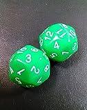 (ディフレコ) Difreco 【 収納 袋 付き 】 パーティー 卓上 ゲーム 占い に 多面体 ( 30 面 ) で カラフル な ダイス サイコロ (グリーン)